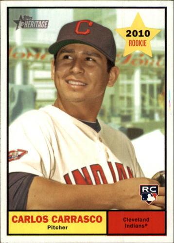 Photo of 2010 Topps Heritage #229 Carlos Carrasco -- Indians post-season