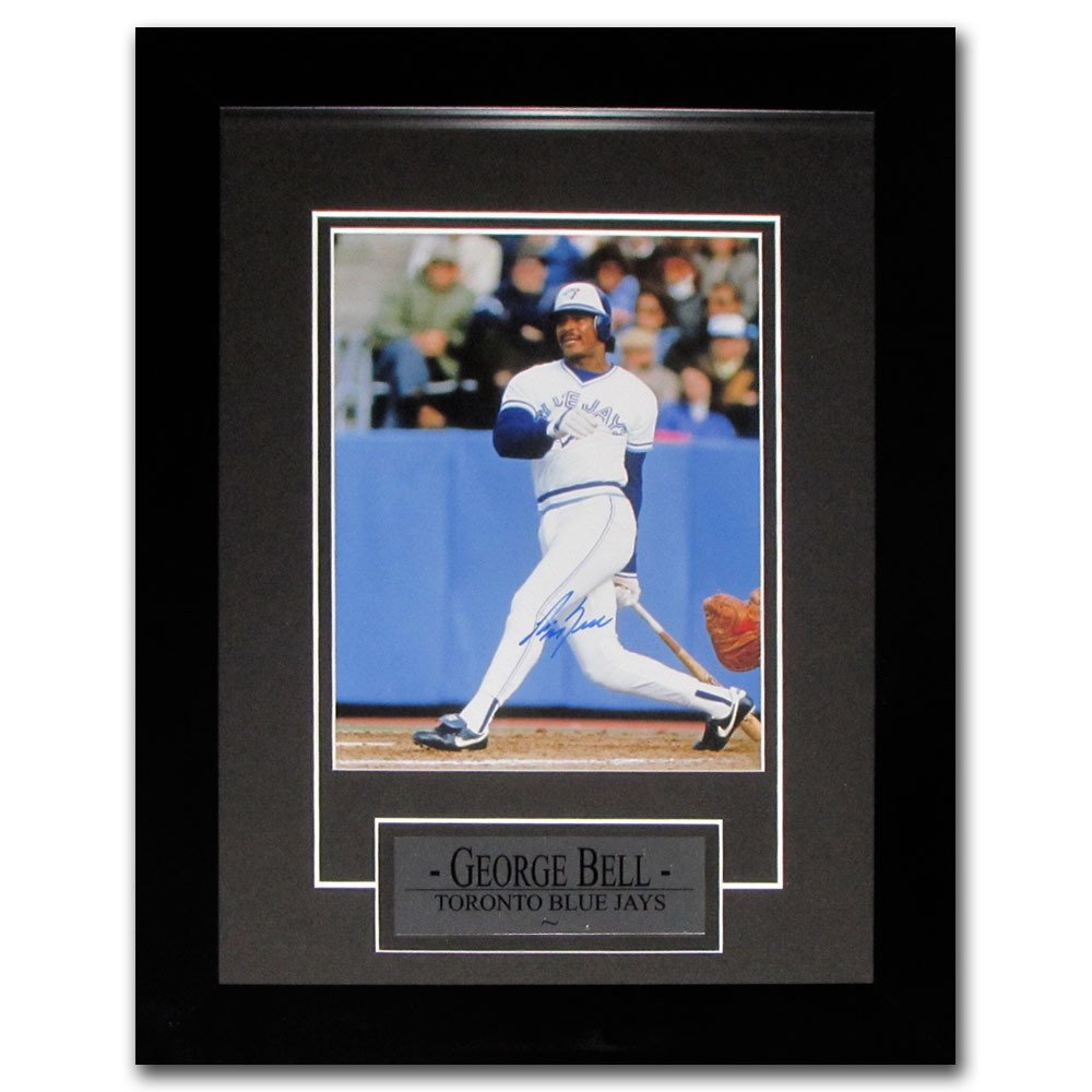 George Bell Autographed Toronto Blue Jays Framed 8X10 Photo