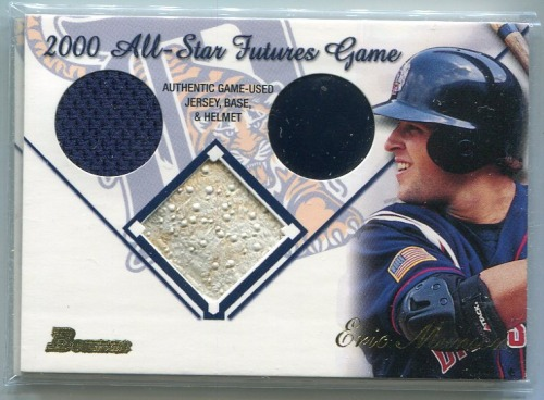 Photo of 2001 Bowman Multiple Game Relics #MGREM Eric Munson B