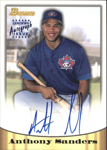 Photo of 1998 Bowman Certified Blue Autographs #35 Anthony Sanders