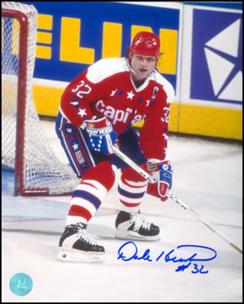 DALE HUNTER Washington Capitals SIGNED 8x10 Photo