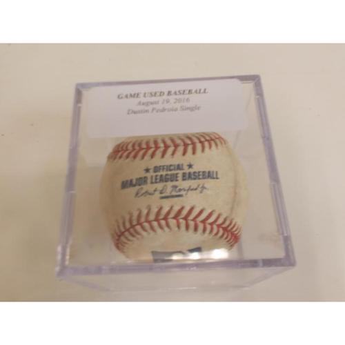 Photo of Game-Used Baseball: Dustin Pedroia Single