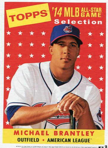 Photo of 2014 Topps 5x7 All-Star Selection Michael Brantley -- Part of exclusive Minneapolis FanFest set