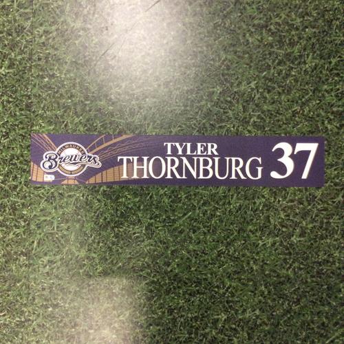 Photo of Tyler Thornburg 2016 Locker Nameplate