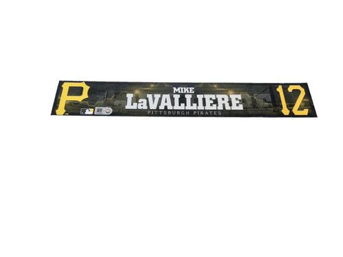 Photo of Mike LaValliere Game-Used Spring Training Locker Name Plate