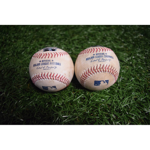Photo of Game-Used Baseballs: Jake Odorizzi and Mike Trout