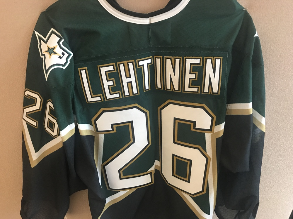 Greg Pateryn Warm Up Worn Jere Lehtinen Retirement Jersey