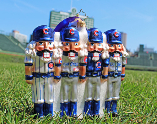 "Photo of Chicago Cubs Limited-Edition Christopher Radko ""2015 Holiday Home and Away"" Ornament"
