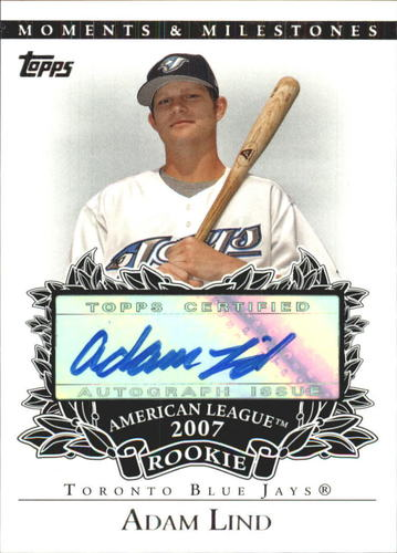 Photo of 2007 Topps Moments and Milestones Rookie Autographs #AL Adam Lind