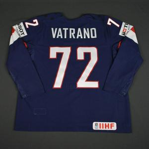 Frank Vatrano - 2016 U.S. IIHF World Championship - Game-Worn Jersey