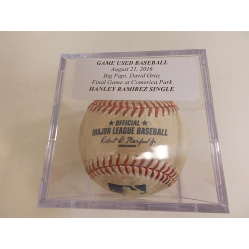 Photo of Game-Used Baseball: Hanley Ramirez Single