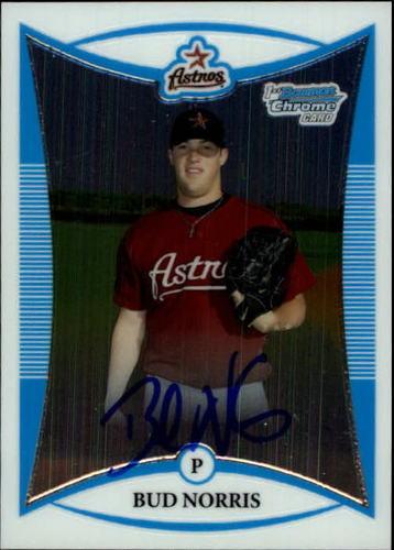Photo of 2008 Bowman Chrome Prospects #BCP272 Bud Norris AU