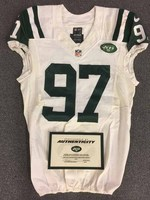 New York Jets - 2014 #97 Calvin Pace Game Worn Jersey