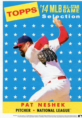 Photo of 2014 Topps 5x7 All-Star Selection Pat Neshek -- Part of exclusive Minneapolis FanFest set