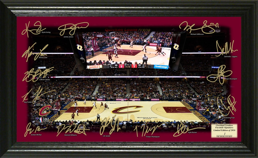 Serial #1! Cleveland Cavaliers Signature Court