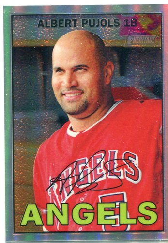 Photo of 2016 Topps Heritage Chrome Refractors #THC481 Albert Pujols