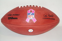 BCA - STEELERS AUTHENTIC FOOTBALL W/ BCA RIBBON LOGO AND STEELERS LOGO