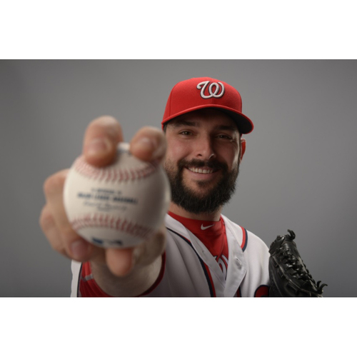 Photo of TANNER ROARK AUTOGRAPHED, PERSONALIZED & MLB AUTHENTICATED LIMITED EDITION WNDF BASEBALL CARD