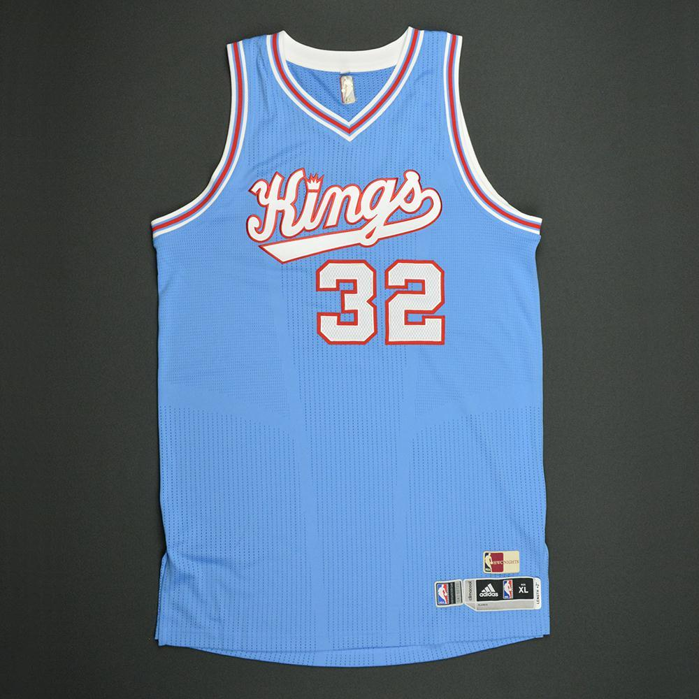 Tyreke Evans - Sacramento Kings - Game-Worn Blue '1985-86 Road Hardwood Classics' Jersey - Dressed, Did Not Play - 2016-17 Season