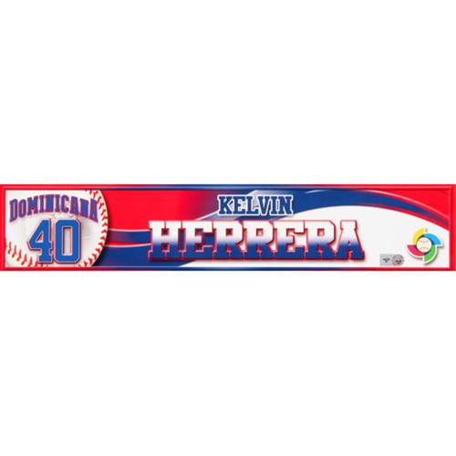 2013 WBC: Dominican Republic Game-Used Locker Name Plate - #40 Kelvin Herrera