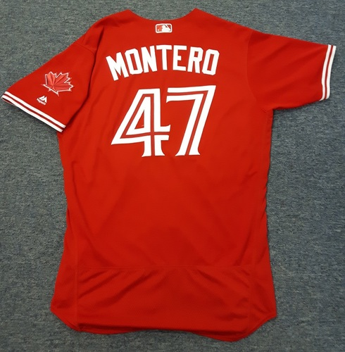 Authenticated Game Used Jersey - #47 Miguel Montero - July 30, 2017 - 0-for-3 with 1 RBI. Size 46.