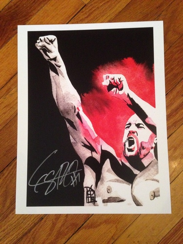 "Photo of Cesaro SIGNED 11"" x 14"" Rob Schamberger Print"