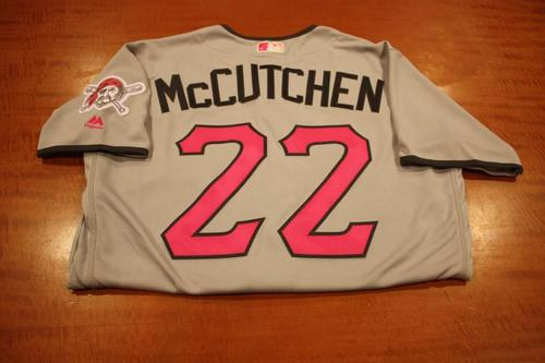 Photo of Andrew McCutchen Game Used Mother's Day Jersey