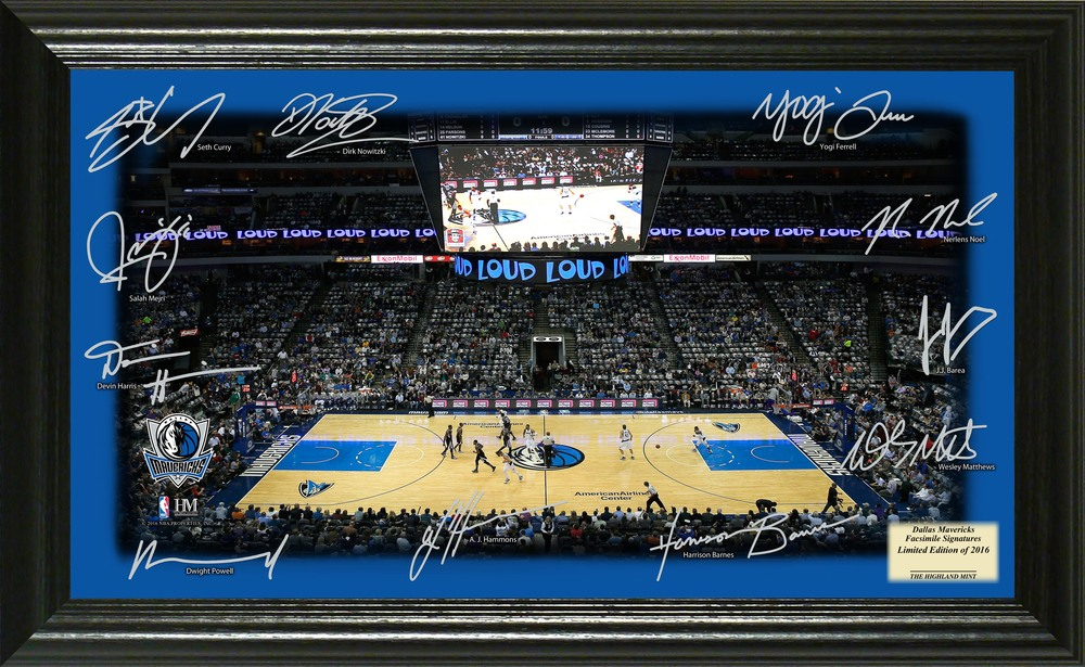 Serial #1! Dallas Mavericks Signature Court