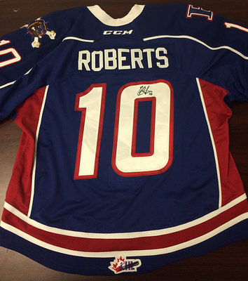 CONNOR ROBERTS AUTOGRAPHED OHL JERSEY