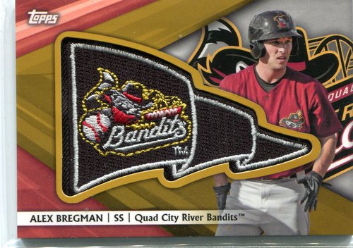 Photo of 2016 Topps Pro Debut Pennant Patches Gold #PPAB Alex Bregman