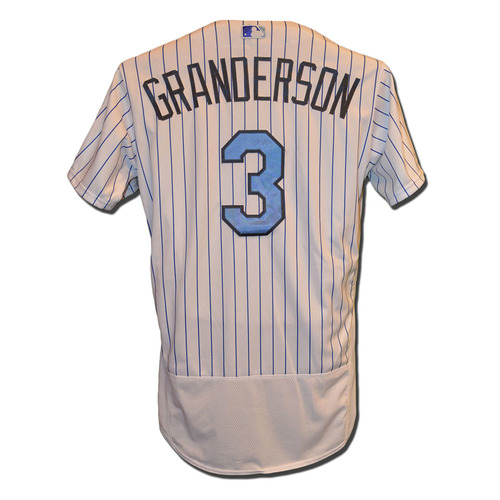 Photo of Curtis Granderson #3 - Granderson Goes 1-4, RBI -Game Used Father's Day Jersey - Mets vs. Nationals - 6/18/17
