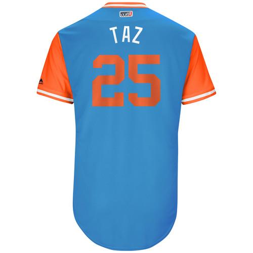 "Photo of Junichi ""Taz"" Tazawa Miami Marlins Game-Used Players Weekend Jersey"