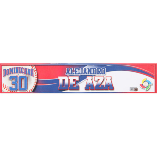 2013 WBC: Dominican Republic Game-Used Locker Name Plate - #30 Alejandro De Aza