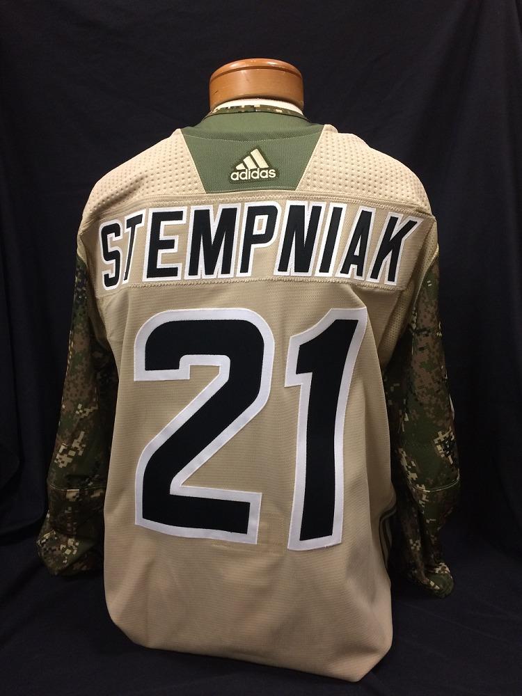 Lee Stempniak #21 Autographed Military Appreciation Jersey