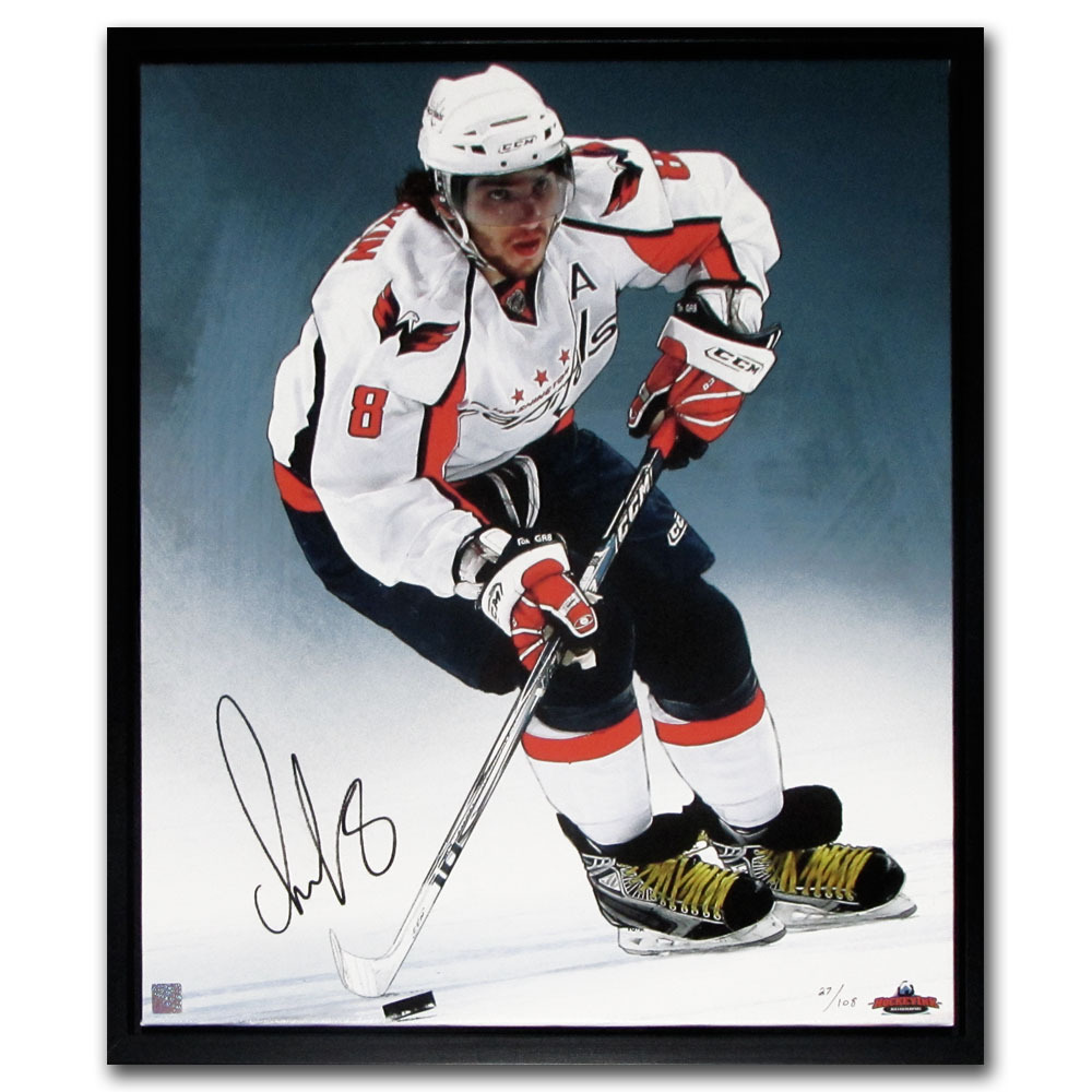 Alexander Ovechkin Autographed Washington Capitals Limited-Edition Framed Canvas