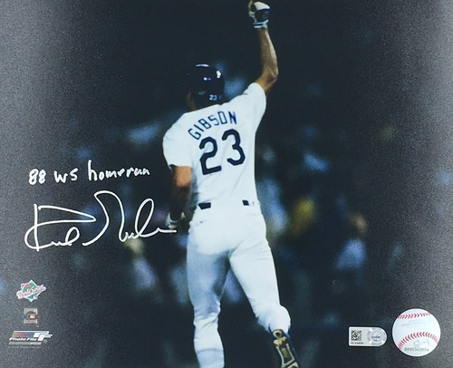 "Photo of Kirk Gibson ""88 WS Homerun"" Autographed 8x10 (Homerun)"