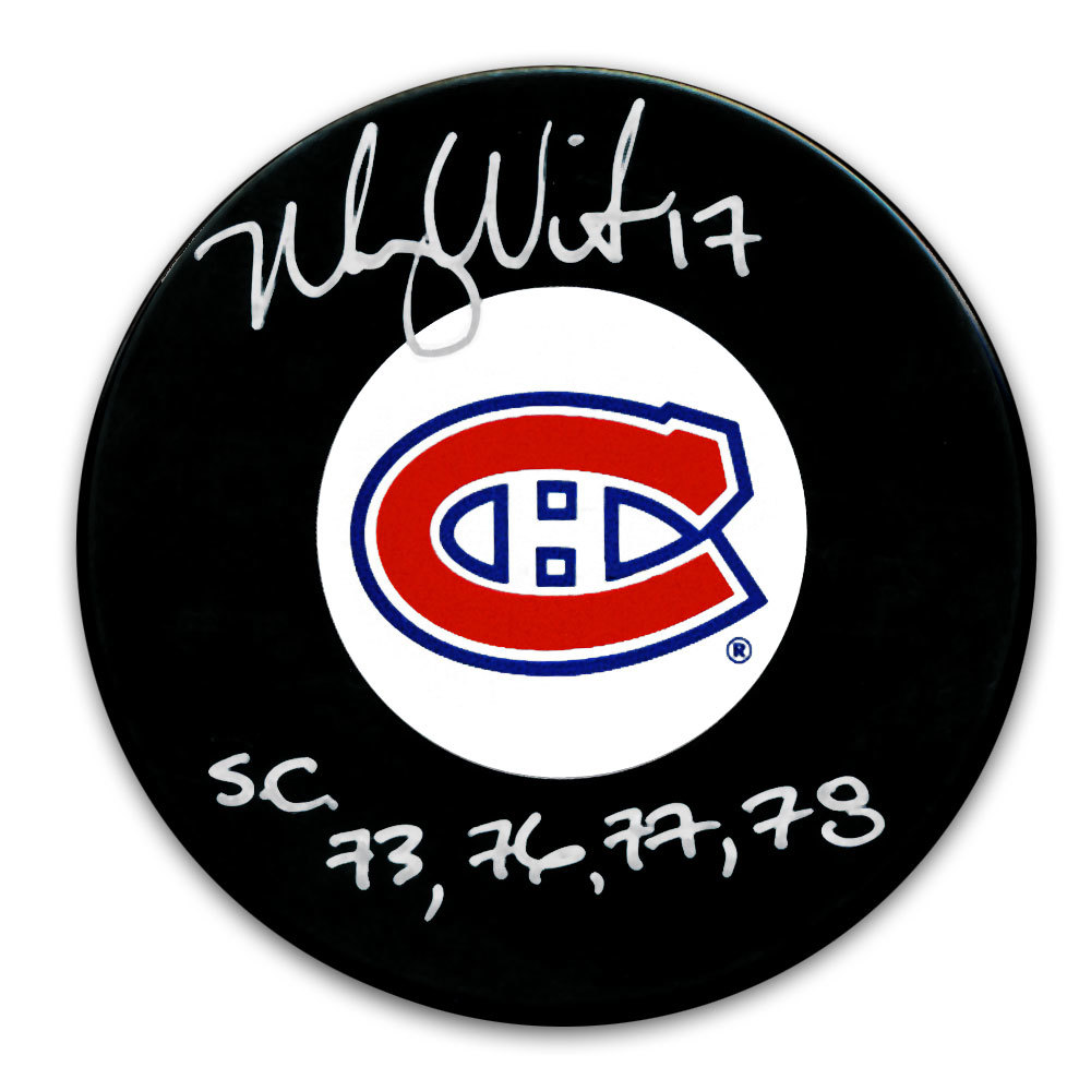 Murray Wilson Montreal Canadiens SC Years Autographed Puck