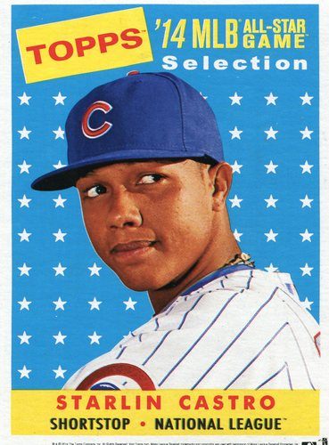 Photo of 2014 Topps 5x7 All-Star Selection Starlin Castro -- Part of exclusive Minneapolis FanFest set