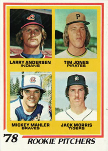 Photo of 1978 Topps #703 Rookie Pitchers Jack Morris Rookie Card