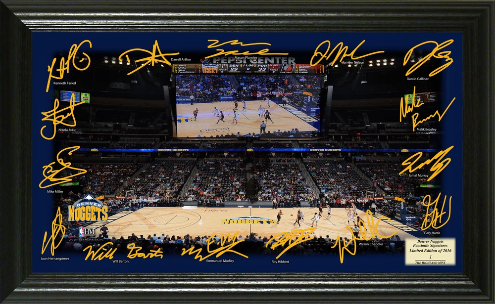 Serial #1! Denver Nuggets Signature Court