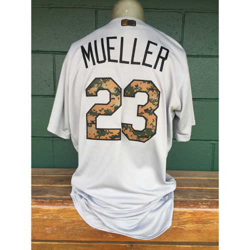 Photo of Cardinals Authentics: Bill Mueller Game Worn Memorial Day Jersey