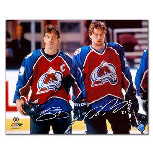 Joe Sakic & Peter Forsberg Colorado Avalanche Dual Autographed 16x20