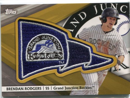 Photo of 2016 Topps Pro Debut Pennant Patches Gold #PPAM Austin Meadows