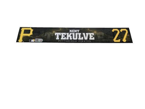 Photo of Kent Tekulve Game-Used Spring Training Locker Name Plate