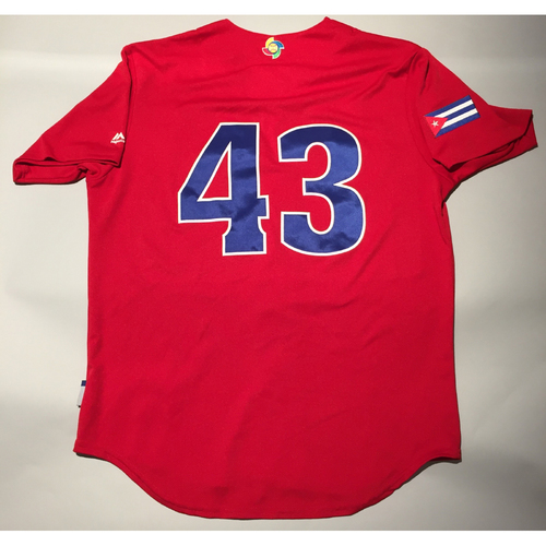 Photo of 2017 WBC: Cuba Game-Used Batting Practice Jersey, #43