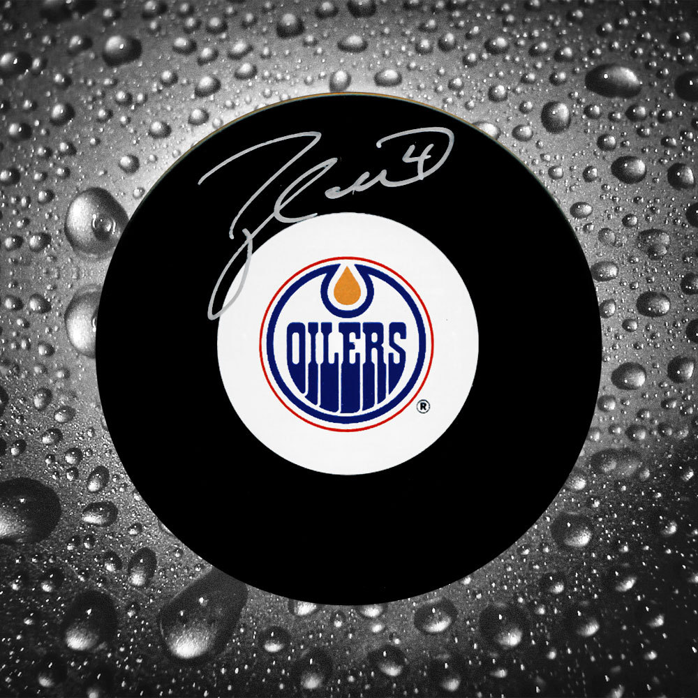 Taylor Hall Edmonton Oilers Autographed Puck