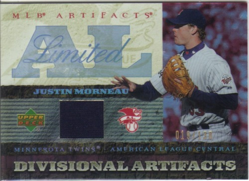 Photo of 2007 Artifacts Divisional Artifacts Limited #MO Justin Morneau