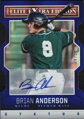 Photo of 2014 Elite Extra Edition Signature Status Blue #55 Brian Anderson