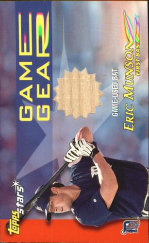Photo of 2000 Topps Stars Game Gear Bats #GGB7 Eric Munson C