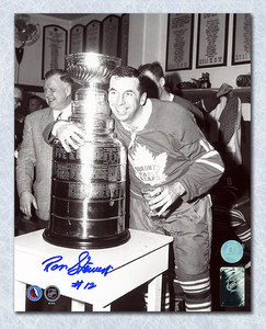 Ron Stewart Toronto Maple Leafs Autographed Stanley Cup 8x10 Photo
